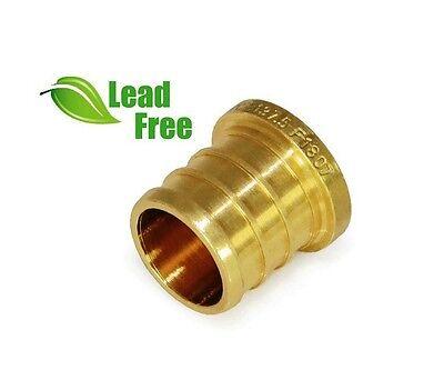 Lot Of 25 12 Pex Plug End Cap Brass Crimp Fittings Lead-free