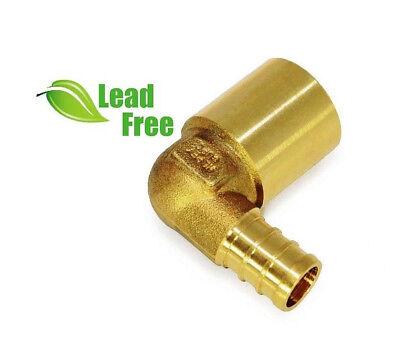 Pack Of 10 12 Pex X 12 Copper Pipe 90 Elbow Pex X Female Sweat Lead Free