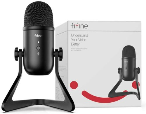 FIFINE K678 USB Podcast Microphone for Recording Streaming Youtube on PC or Mac