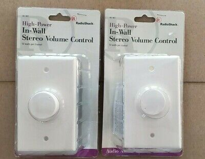 Wall Mount Home Theater Audio System Rotary Speaker Volume Control 50 Watts RMS Wall Mount Volume Control