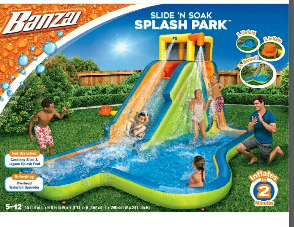 Banzai Spring & Summer Toys Slide 'N Soak Splash Park Cons
