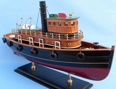 """Steam Tugboat 20/"""" built 1922 SS Master Handmade Wooden Model NEW"""