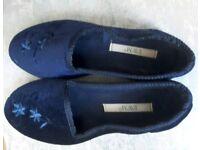 Ladies blue slippers
