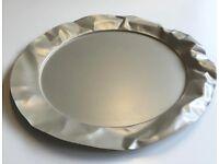 Alessi 'Foix' round serving Tray design Lluís Clotet Crumpled Matt aluminium Gorgeous!
