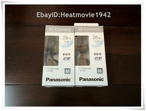 2-pairs-of-Panasonic-YT-EW3D3MC-EW3D3MW-Black-HDTV-Rechargeable-3D-Glasses-EN007