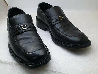 Vintage Gucci Mens Black Leather Dress Shoes Size 40 E