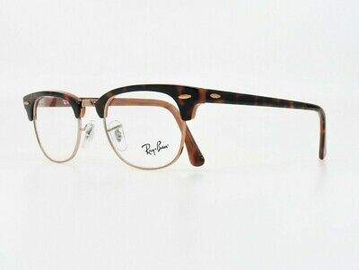 Ray-Ban Unisex Clubmaster Orange Tortoise Glasses w/ Case RB 5154 5884 (Non Prescription Ray Bans)