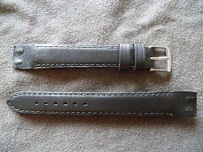 Kalb Box (16 mm Armband Schwarz Kalb Box Echt A Kupplungslamellen für Kumme Bockrollen)
