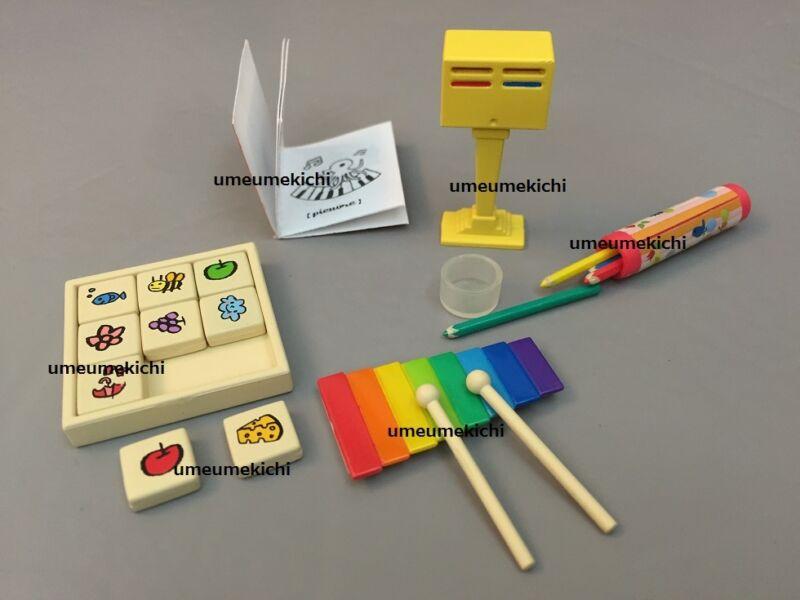 Re-ment dollhouse miniature toys xylophone color pencils pencil case 2005