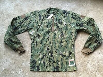 NEW NWU Type III Navy Seal AOR2 Inclement Weather Combat Shirt Jacket MANY SIZES
