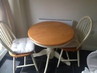 Dining table and chairs, small 75cm perfrct for small kitchen!