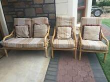 3 Piece Cane Lounge Suite Outdoor Setting Oakden Port Adelaide Area Preview