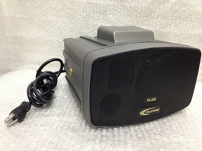 Califone Pa-300 Presentation Pro Stereo Portable Pa Speaker Tested Working