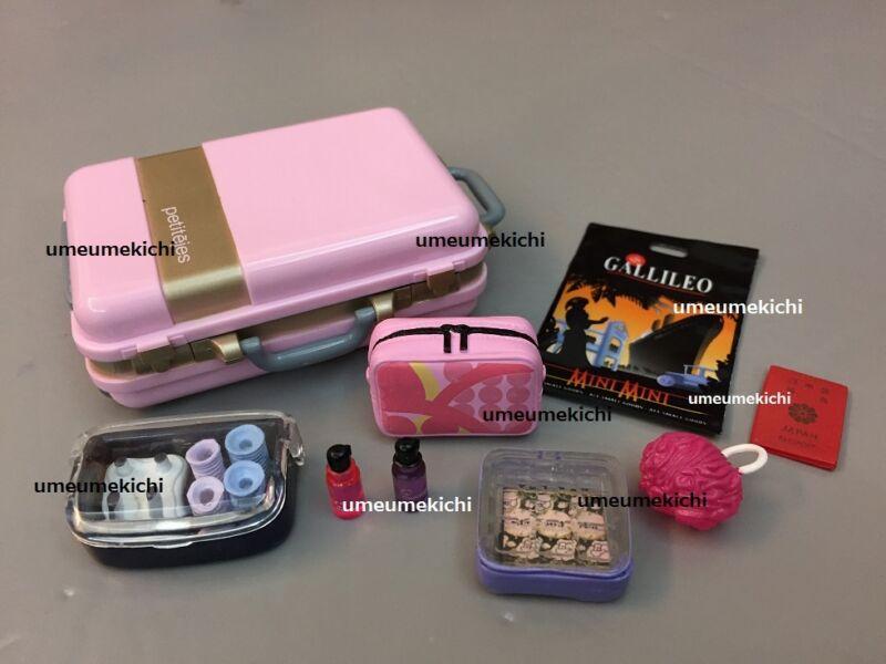 Re-ment dollhouse miniature suitcase passport cosmetics pouch perfume 2005