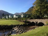 Static Caravans and Lodges at Drimynie on Lochgoil. Near Loch Lomond and 1 hour from G'gow. Escape..