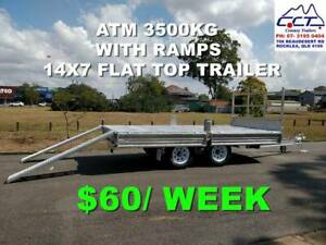Take Home Layby!! 14x7 FLAT TOP/ FLAT DECK FREE REGO FREE SPARE WHEEL
