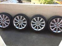 "19"" alloy wheels Genuine Jaguar XF XK XJ S-Type F-Type 8.5x19 49mm 245 40 R19"