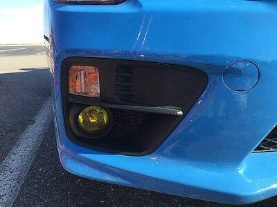 (2015-2018 Subaru WRX / STI Yellow Fog light PreCut Tint Vinyl Overlay Rally JDM)