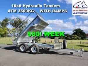 TAKE HOME LAYBY!! 10X6 HYDRAULIC TIPPER TRAILER ATM 3500KG