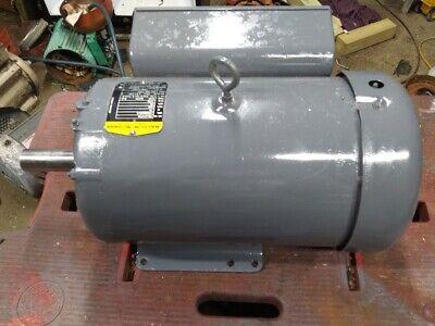 10hp Single Phase Electric Motor 1750 Rpm 230v 215t 1 38 Shaft 2yr Warnty