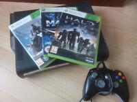 Xbox 360 Black 100GB + Games