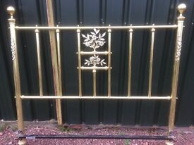 Ornate Brass Bed frame Headboard and tailboard.