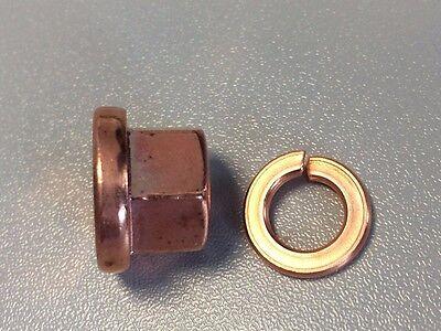 5 Stück Kupfermutter M8 Kl.10 ( 10.9) /Kupfer Sicherungsring , hochfest