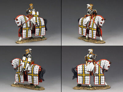 - KING & COUNTRY MEDIEVAL KNIGHTS & SARACENS MK106 MOUNTED TEUTONIC KNIGHT MIB