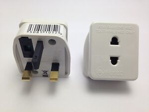 2-x-ELECTRIC-SHAVER-PLUG-ADAPTER-ADAPTOR-FUSED-NEW-1A-2-PIN-TO-3-PIN