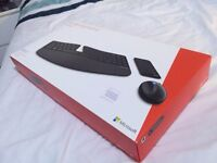 Brand New Sealed Microsoft Sculpt Ergonomic Black Desktop Keyboard, Mouse and Numeric Pad Set