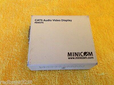 Minicom Cat5 Audio Video Display - MINICOM CAT5 Audio Video Display REMOTE P/N: 1VS23011  REV 1.3