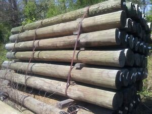 34 x 8ft pressure treated fence posts southern yellow pine wood wooden fencing