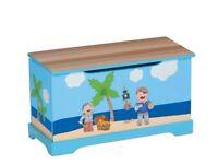 Livarno Living Kids' Boys Toy Chest / Storage Box Pirate Design