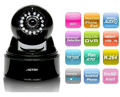 Astak Mole Wireless Wifi IP Security Camera - Audio, Night Vision, Remote access