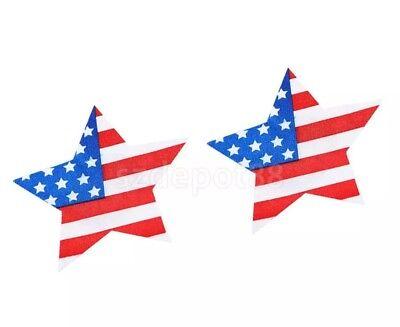 Stars Stripes Pastease USA Flag Nipple Petals Pasties Bra Stickers Exotic Dancer