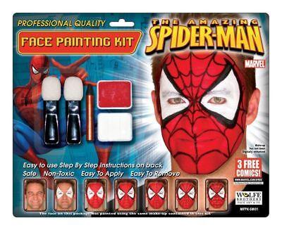 SPIDERMAN SUPER HERO MAKEUP KIT COSTUME FACE PAINTING WFSM01  - Spiderman Makeup