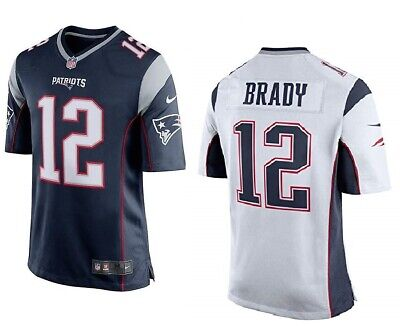 NEW Tom Brady #12 New England Patriots NFL Football blue/white jersey  S - XXL