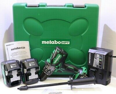 Metabo Hpt Hitachi Dv36da Multivolt 36volt Hammer Drill 2 Batteries Charger Case