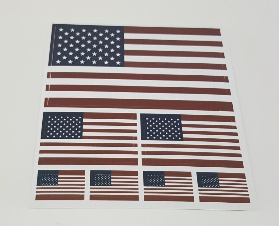 USA Flag Stickers (7 stickers in the package)