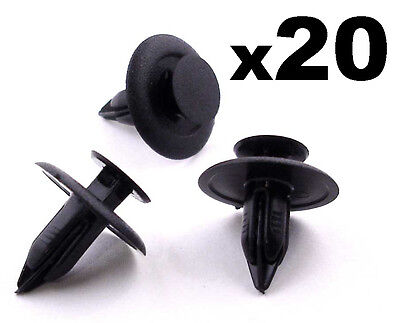 20x Mazda 6mm Interior Trim Fastener Clips for Trim Panels, Fascias & Linings