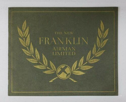 1928 Franklin Airman Sales Catalog