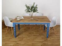 Farmhouse Oak Kitchen Dining Table All Size/Colours Modern