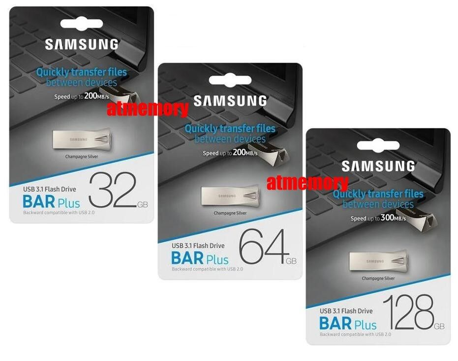 Samsung 32GB 64GB 128GB 256GB USB Flash Drive BAR Plus USB3.