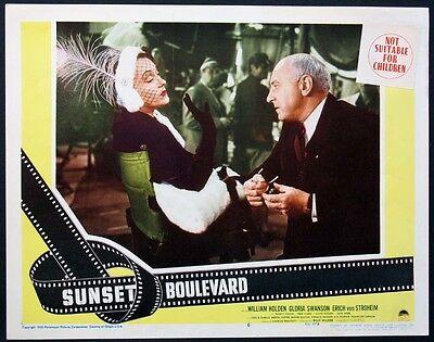 SUNSET BOULEVARD GLORIA SWANSON CECIL B. DEMILLE 1950 LOBBY CARD #6