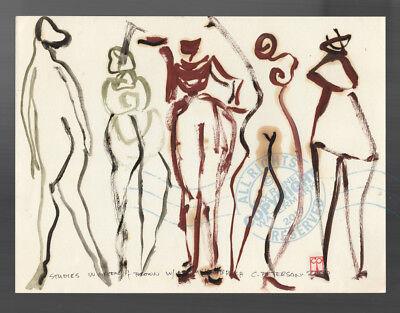 #20 Modern Art Figure Series ORIGINAL OIL PAINTING best Urban Avant Garde (Modern Art Series)