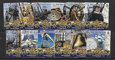 PITCAIRN ISLANDS SG737/48 2007 HMS BOUNTY REPLICA MNH