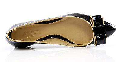 KATE SPADE 1062 New York Elise Black Patent Leather Ballet Flats Size 8