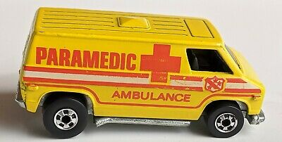 Vintage 1974 Mattel Hot Wheels Paramedic Ambulance Super Van Rare Hong Kong EUC