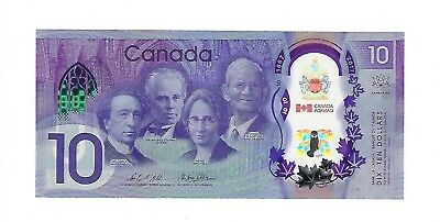 2017 Canada 150   10 Dollar Polymer    Prefix Cde  Unc Hard To Get Prefix Letter
