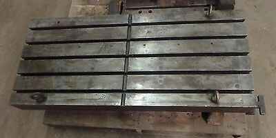 48.75 X 21.75 Steel T Slotted Table Cast Iron Layout Welding Fixture